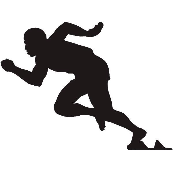 Wandtattoos: Atleta 100 metros