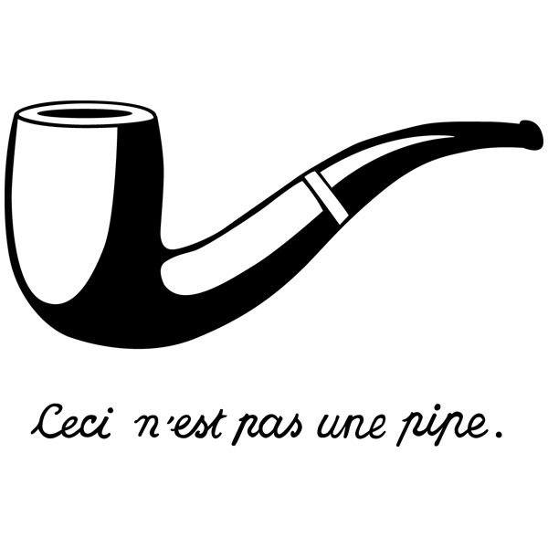 Wandtattoos: Pipe Magritte