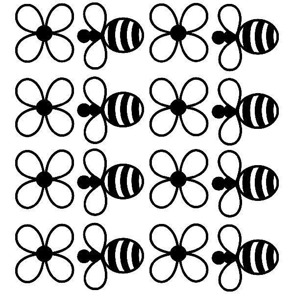 Kinderzimmer Wandtattoo: Bienen und Blumen