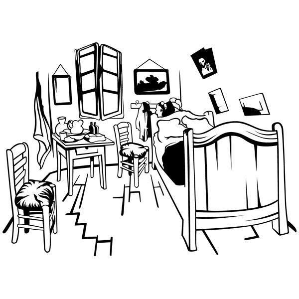Wandtattoos: Van Gogh Zimmer