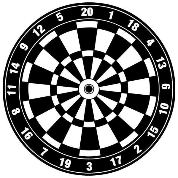 Wandtattoos ziel darts for Braune klebefolie