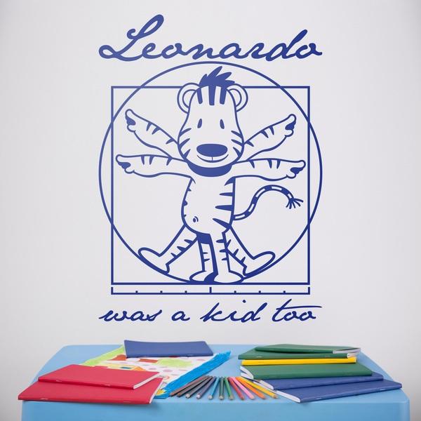 Kinderzimmer Wandtattoo: Leonardo Da Vinci kids