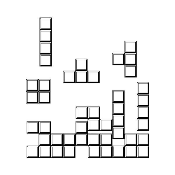 Wandtattoos: Block puzzle
