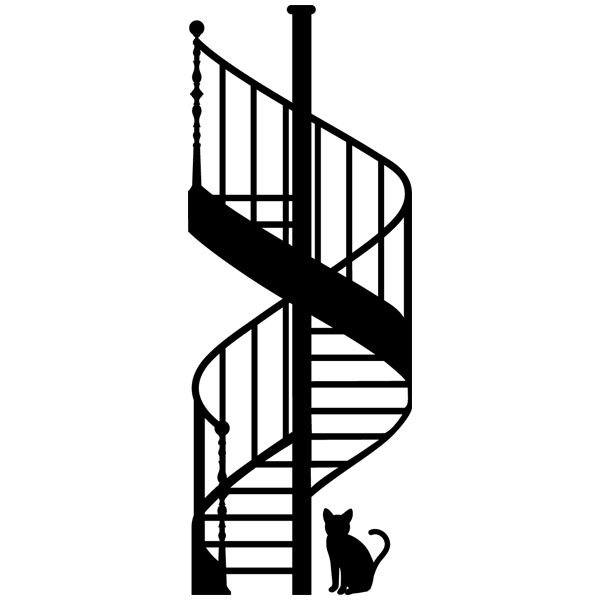 Wandtattoos: Schnecke stairs