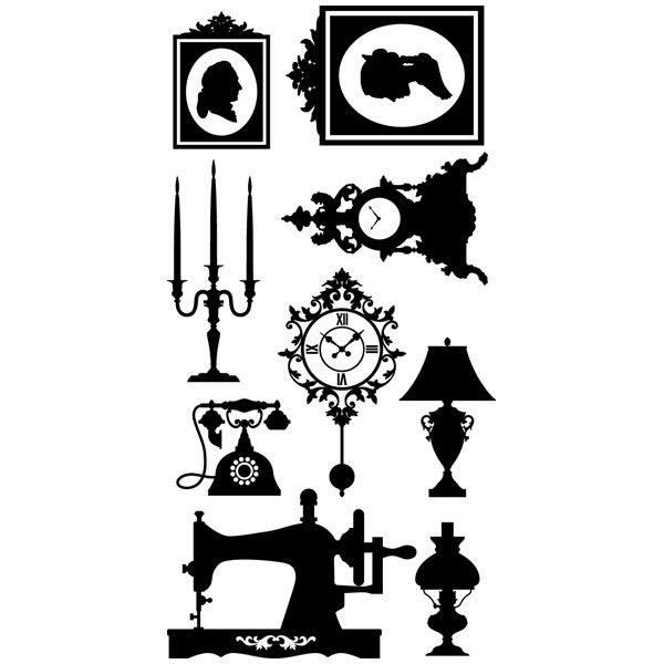 Wandtattoos: kit Vintage-Möbel