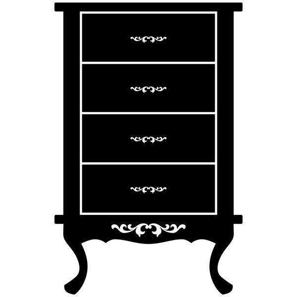 Wandtattoos: Möbel Vintage