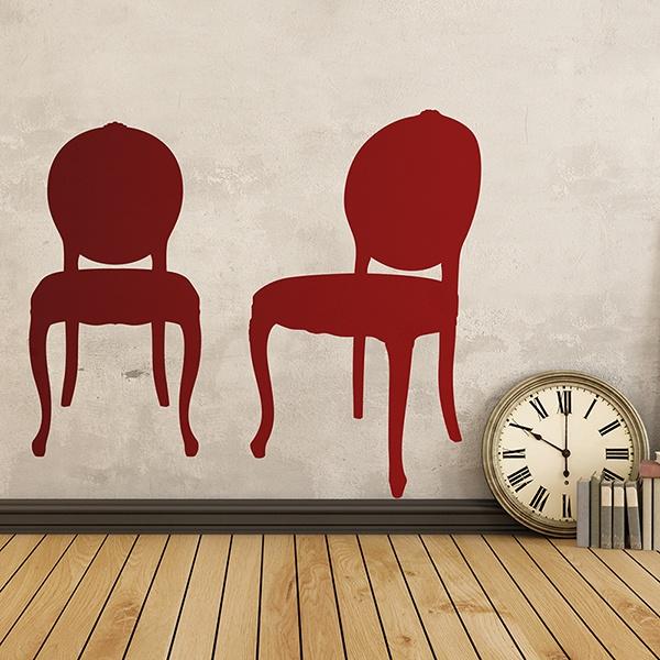 Wandtattoos: Zwei Stühle Jahrgang