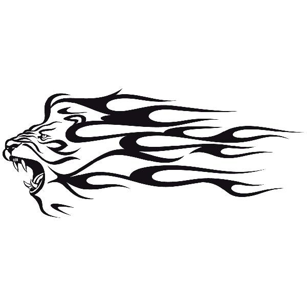 Aufkleber: Animal Flames 36