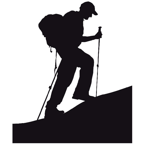 Wandtattoos: Bergsteigen