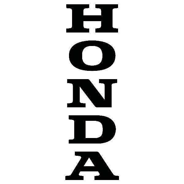Aufkleber: Honda Letters vertikale