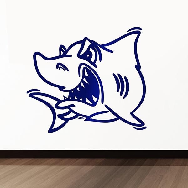 Wandtattoos: Shark