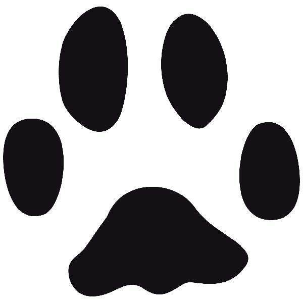 Wandtattoos: Cat Fußabdrücke