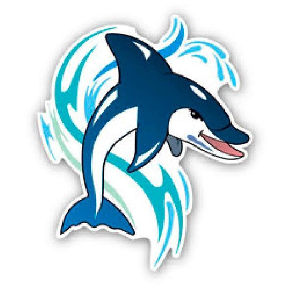 Aufkleber: Dolphin 1