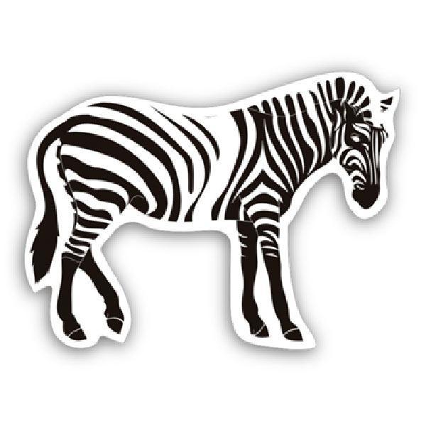 Aufkleber: Zebra 1
