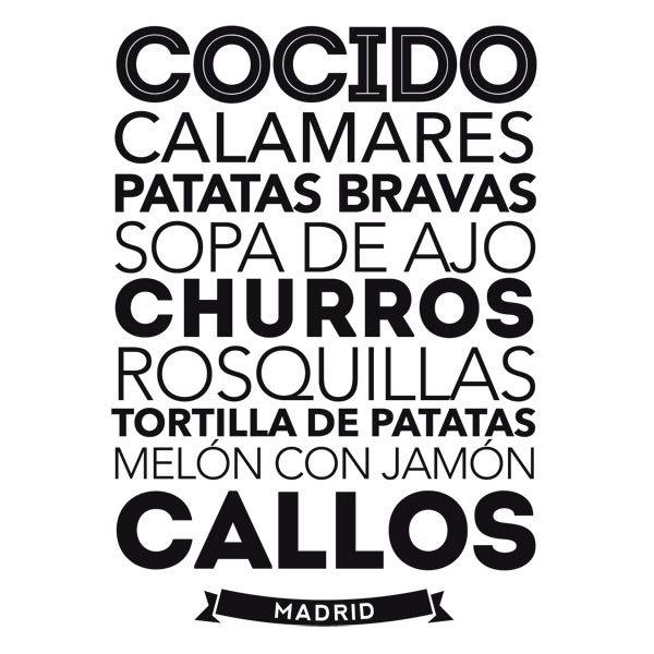 Wandtattoos: Gastronomie in Madrid