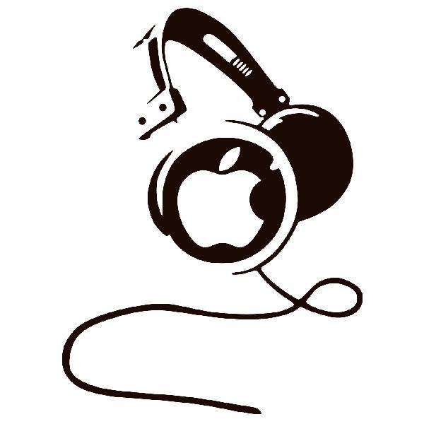 Aufkleber: Kopfhörer