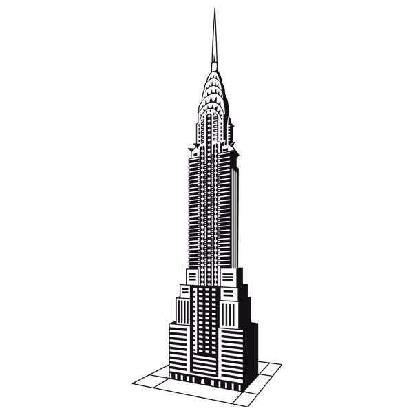 Wandtattoos: Chrysler Building