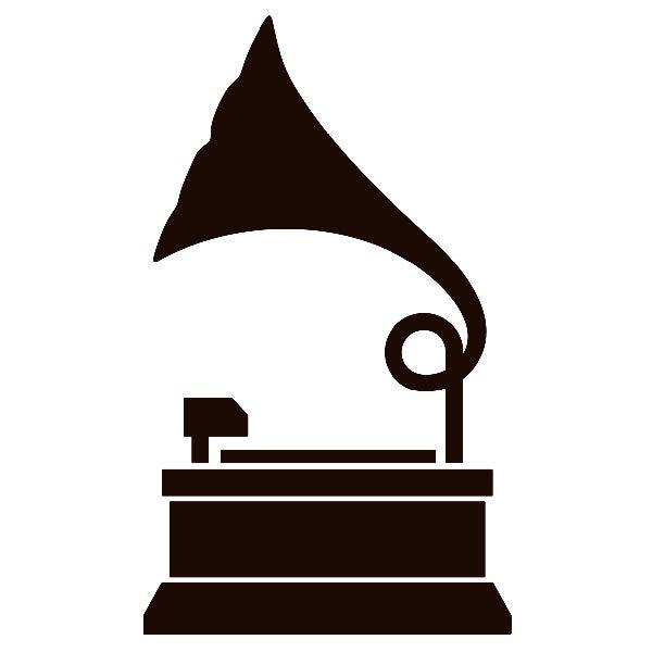 Aufkleber: Grammophon