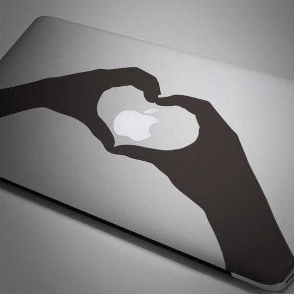 Aufkleber: Silhouette Hände Herzen