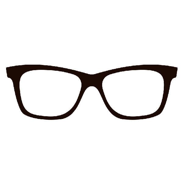 Aufkleber: Hornbrille