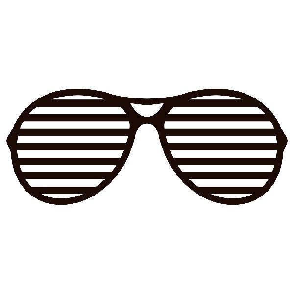 Aufkleber: Shutter Shades Brille