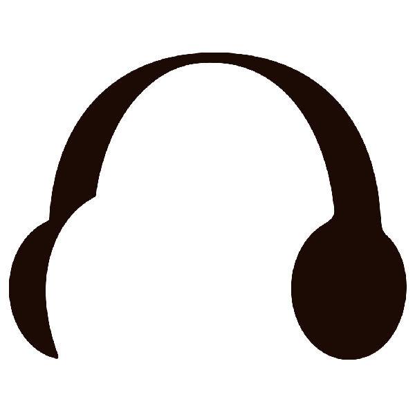 Aufkleber: Kopfhörer mini