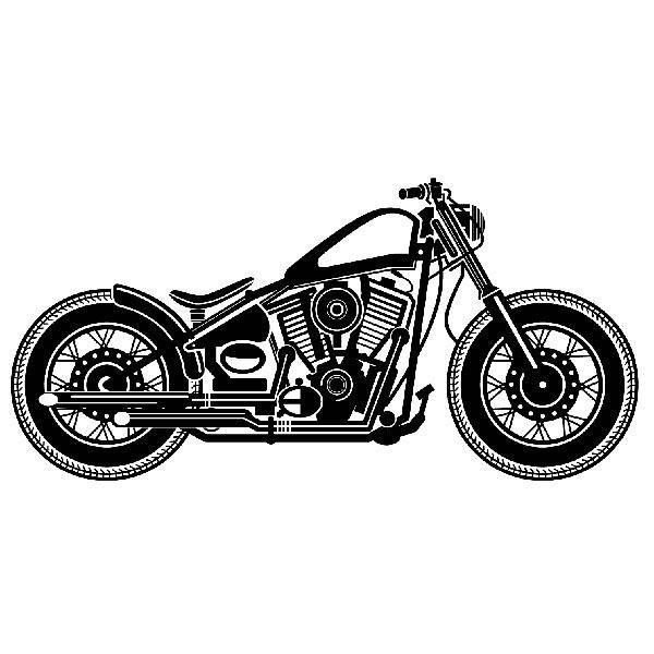 Wandtattoos: Harley Motorbike