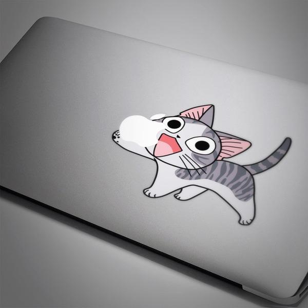 Aufkleber: Katze die Apple isst