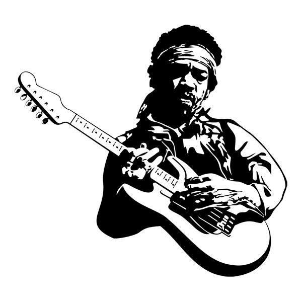 Wandtattoos: Jimi Hendrix