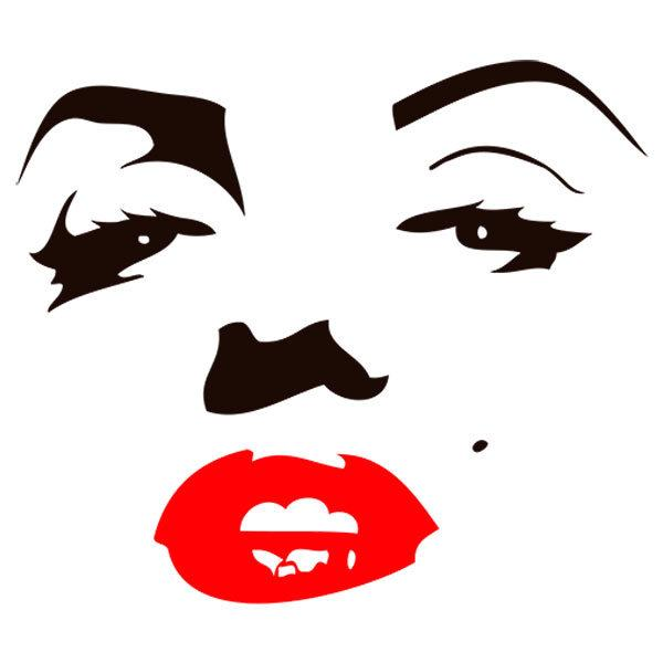 Aufkleber: Marilyn Monroe