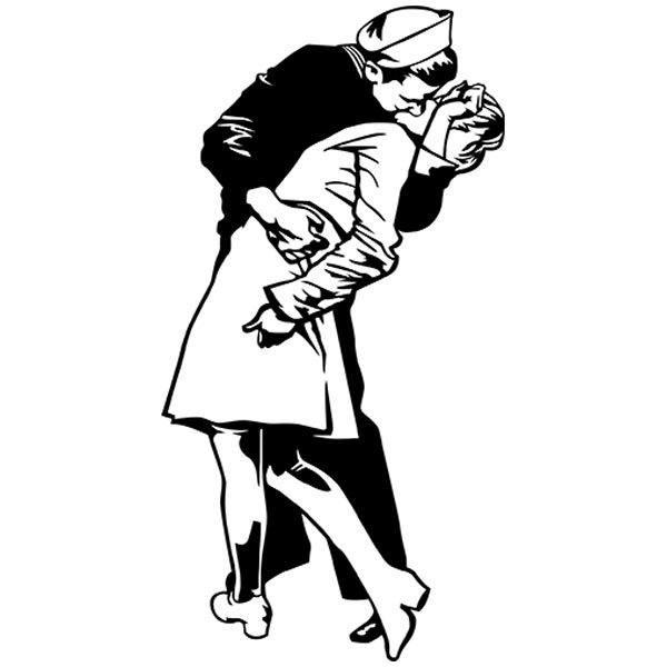 Aufkleber: Der Kuss