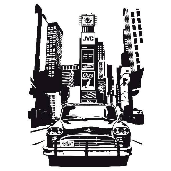 Wandtattoos: Taxi Nueva York