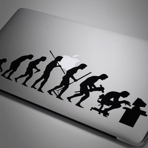 Aufkleber: Evolution