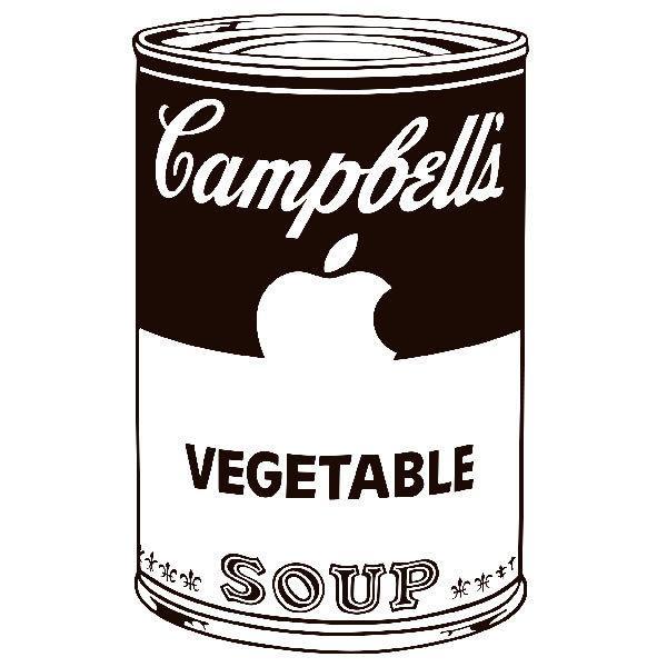 Aufkleber: Andy Warhol Campbells Soup