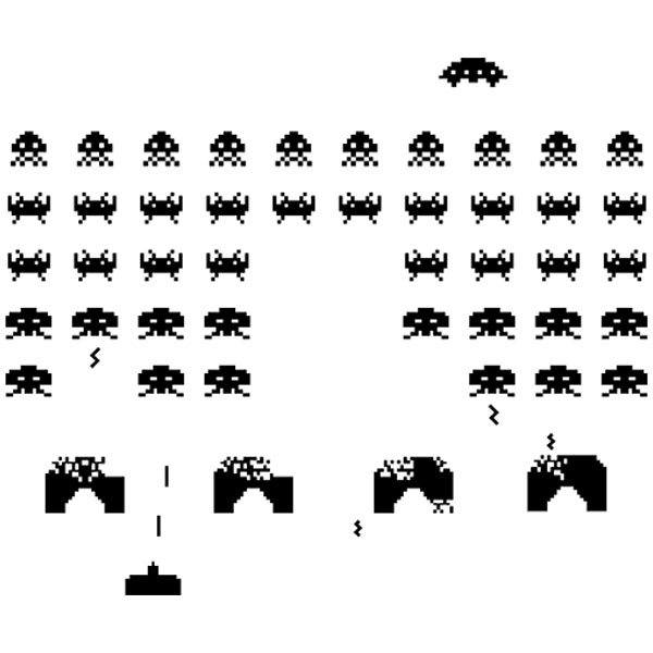 Aufkleber: Space Invaders