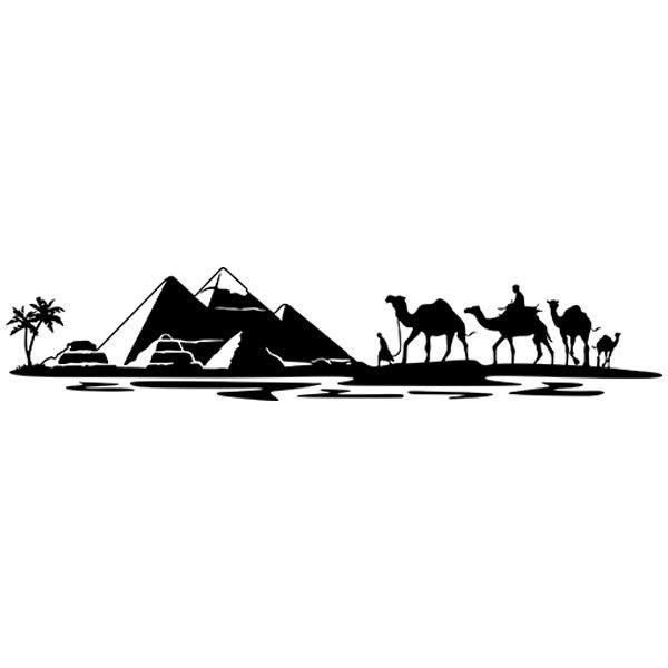 Aufkleber: Pyramiden von Gizeh
