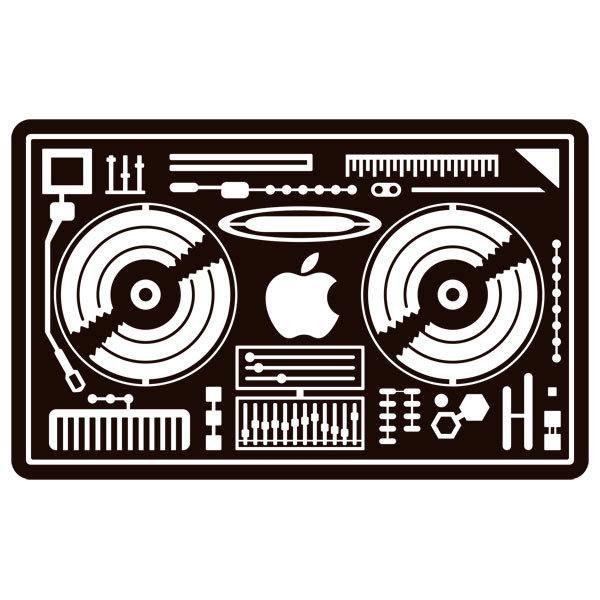 Aufkleber: DJ-Mixer