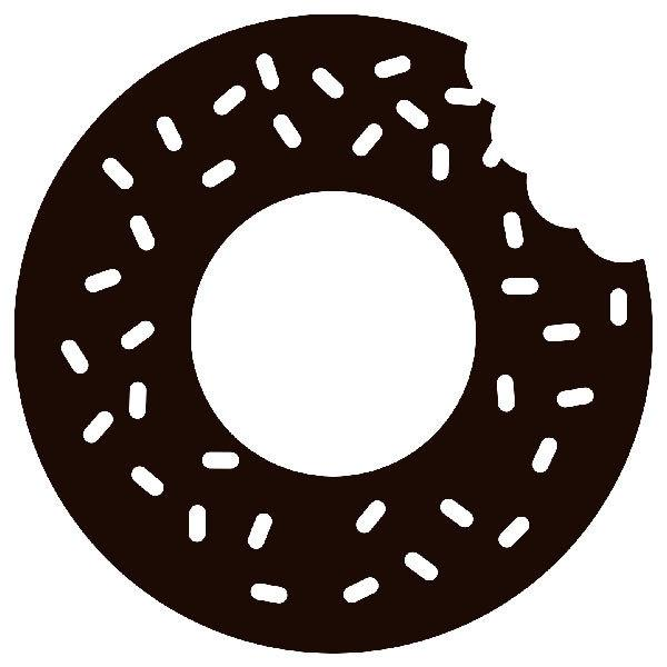 Aufkleber: Donut Homer Simpson