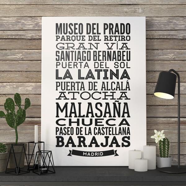 Wandtattoos: Typografische der Straßen von Madrid