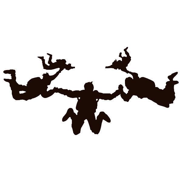 Aufkleber: Fallschirmspringer