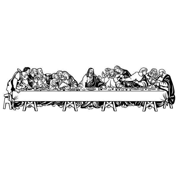 Wandtattoos: Das Abendmahl (Leonardo da Vinci)
