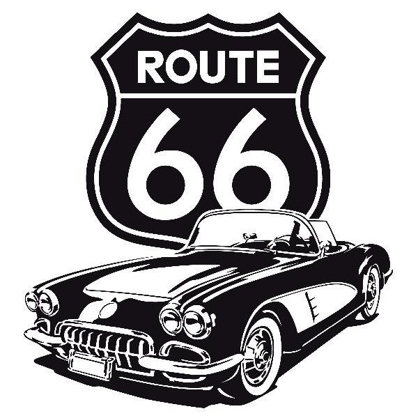 Wandtattoos: Corvette Route 66