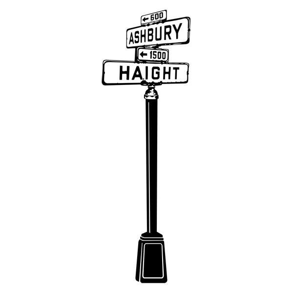 Wandtattoos: Ashbury Haight
