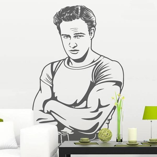 Wandtattoos: Marlon Brando