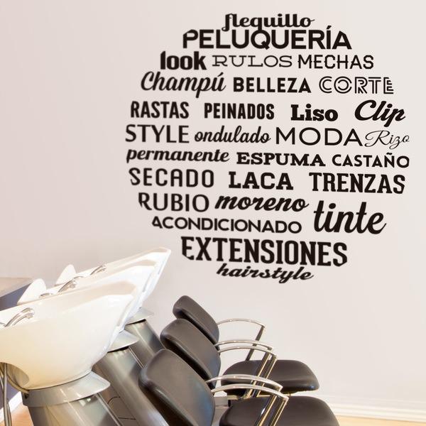 Wandtattoos: Typografische Frisiersalon