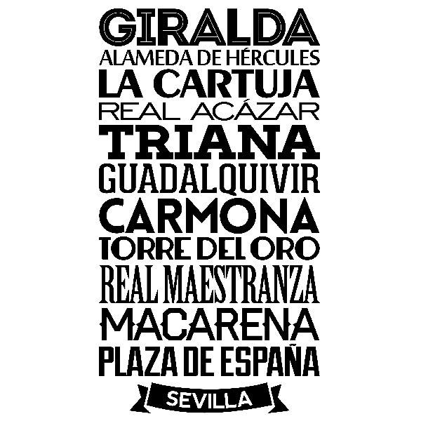 Wandtattoos: Typografische Sevilla