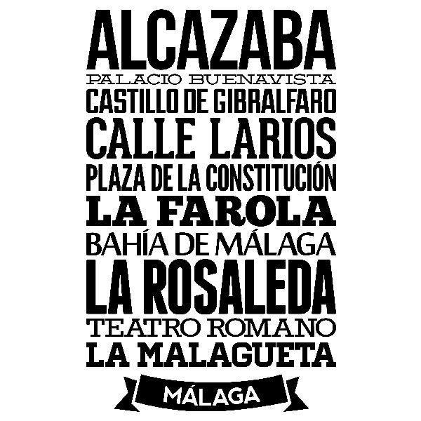 Wandtattoos: Typografische Malaga