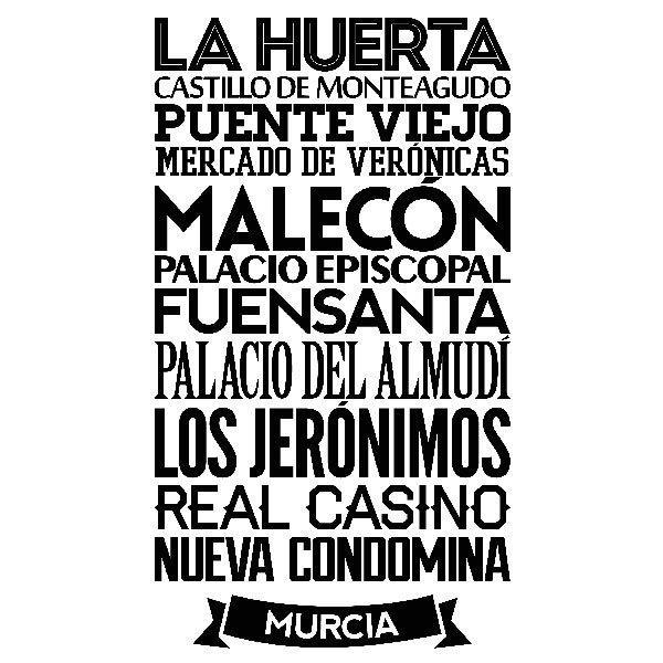 Wandtattoos: Typografische Murcia