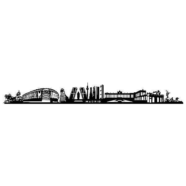 Wandtattoos: Skyline von Madrid