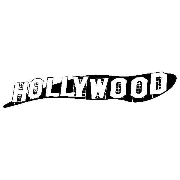 Wandtattoos: Hollywood-Zeichen